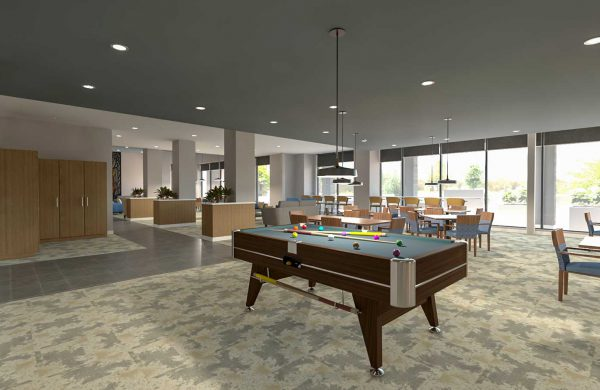 Wellings of Calgary Preliminary Atrium Game Room