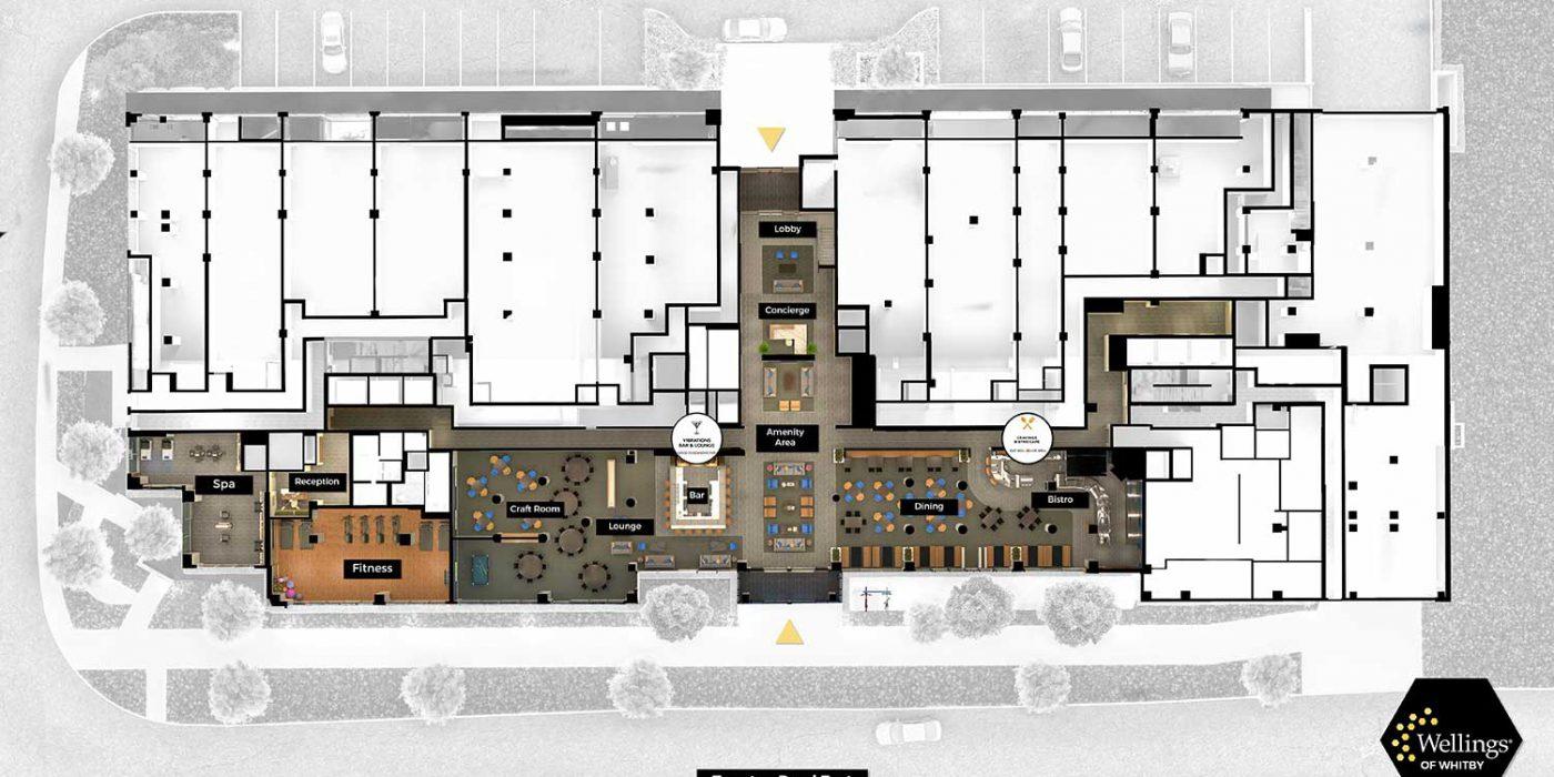 Wellings of Whitby First Floor - Floor Plan